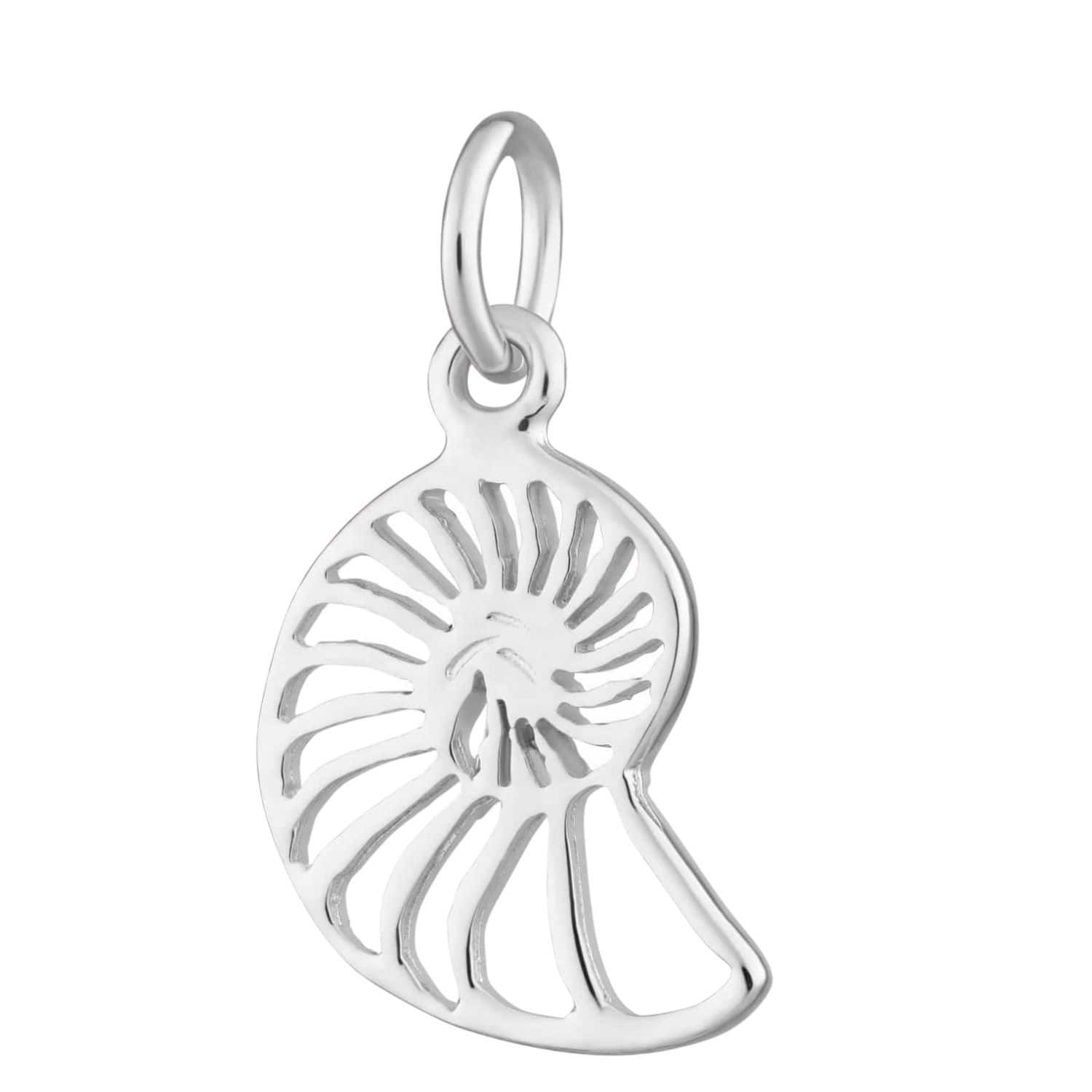 Silver Shell Slice Charm by Lily Charmed