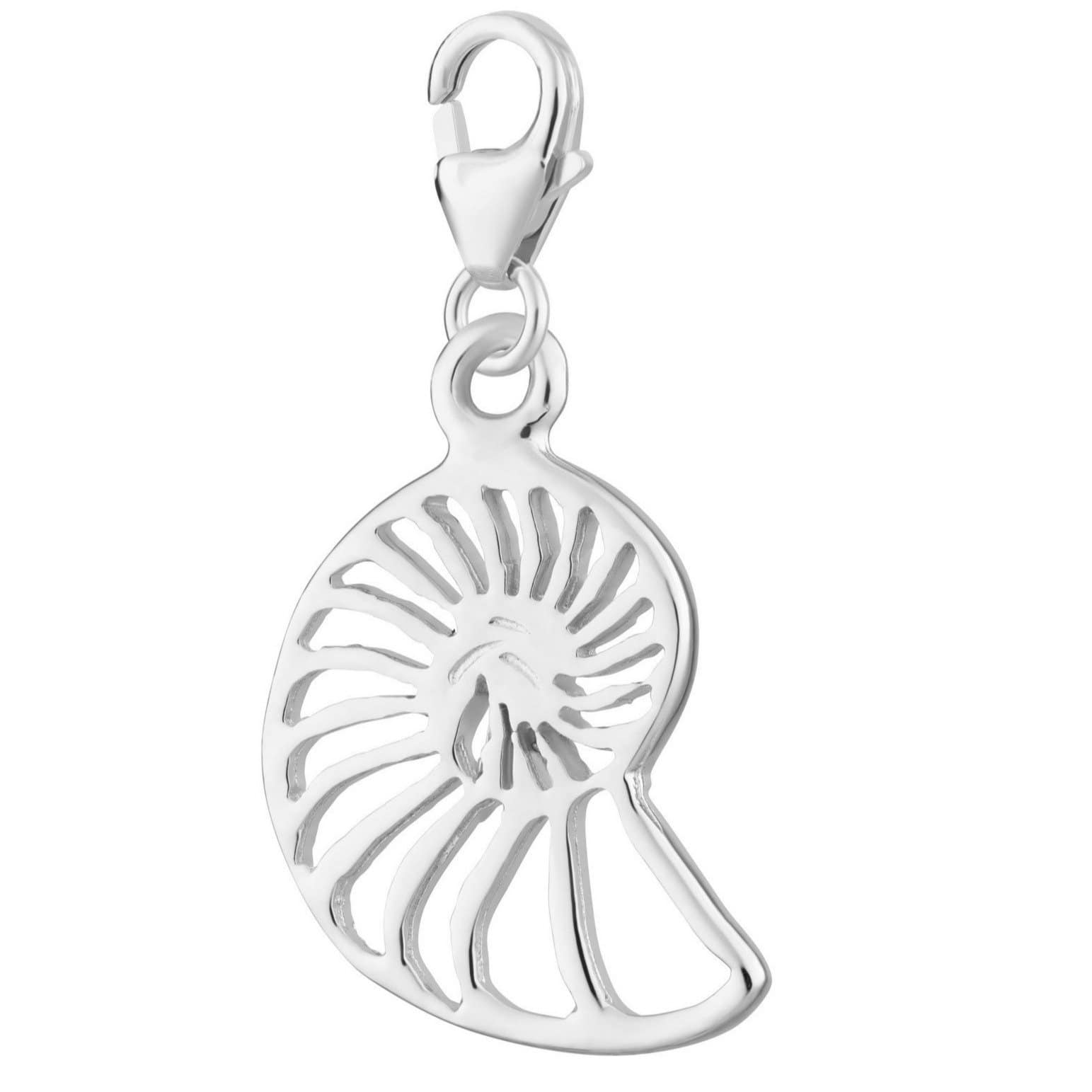 Silver Shell Slice Clip on Charm by Lily Charmed