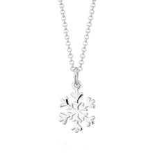 Personalised Silver Snowflake Necklace