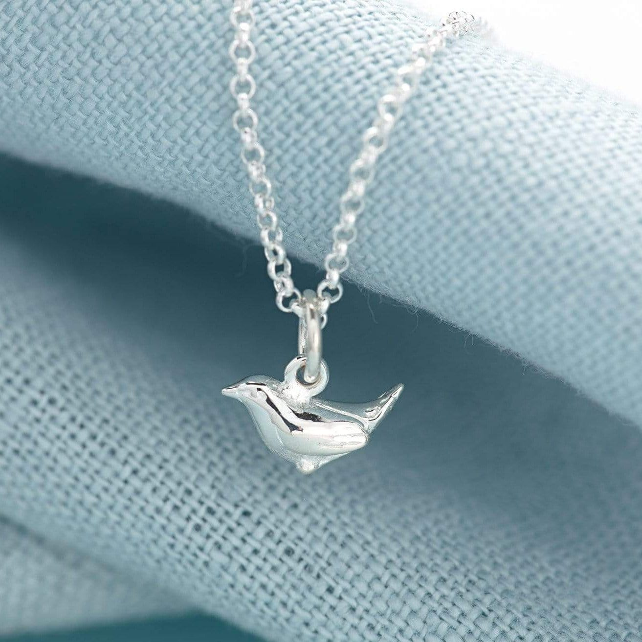 Personalised Silver Wren Necklace - Lily Charmed