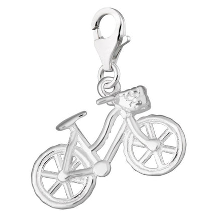 Silver Bicycle Charm