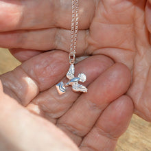 Personalised Silver Bird and Envelope Necklace - Lily Charmed