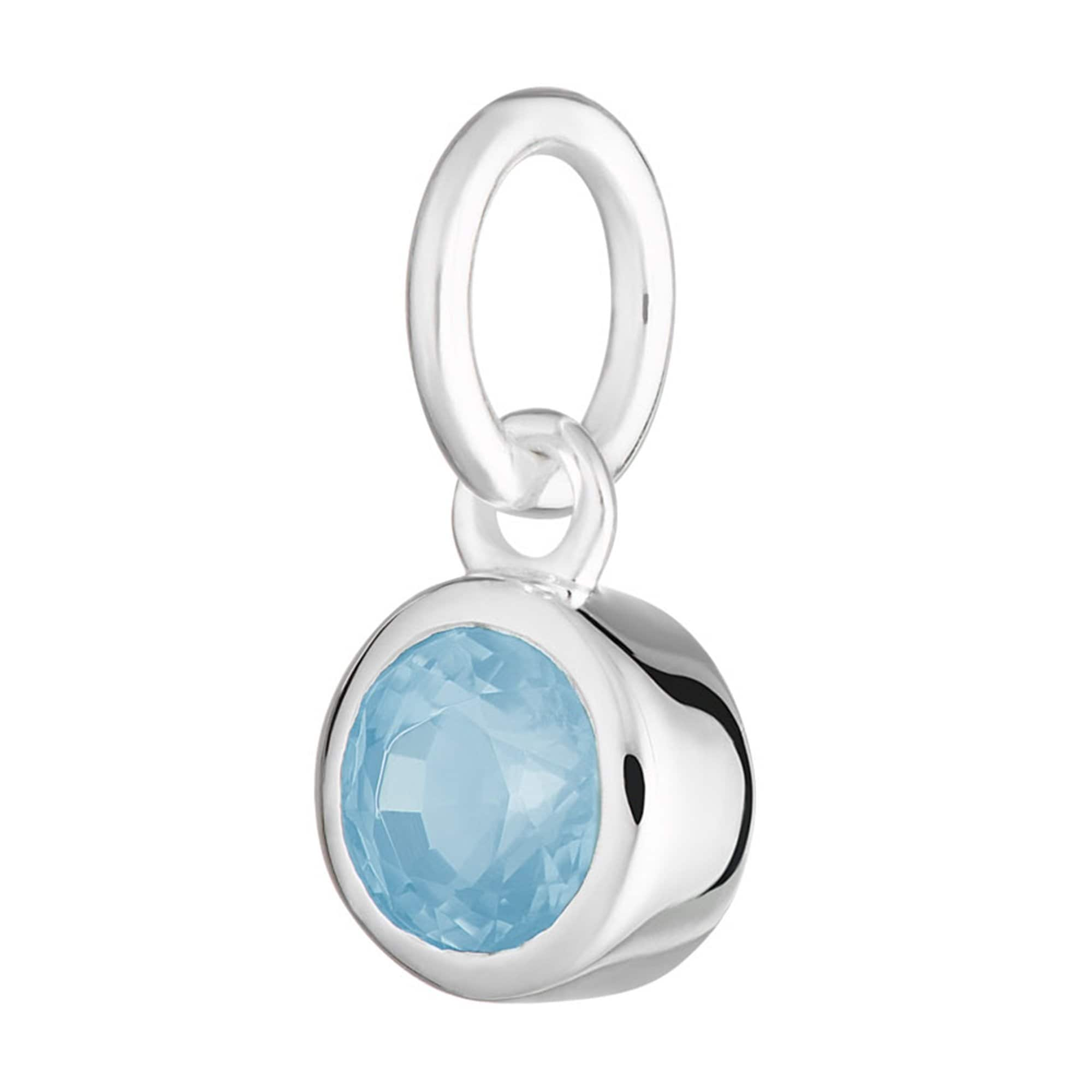 Blue Topaz Charm - December Birthstone
