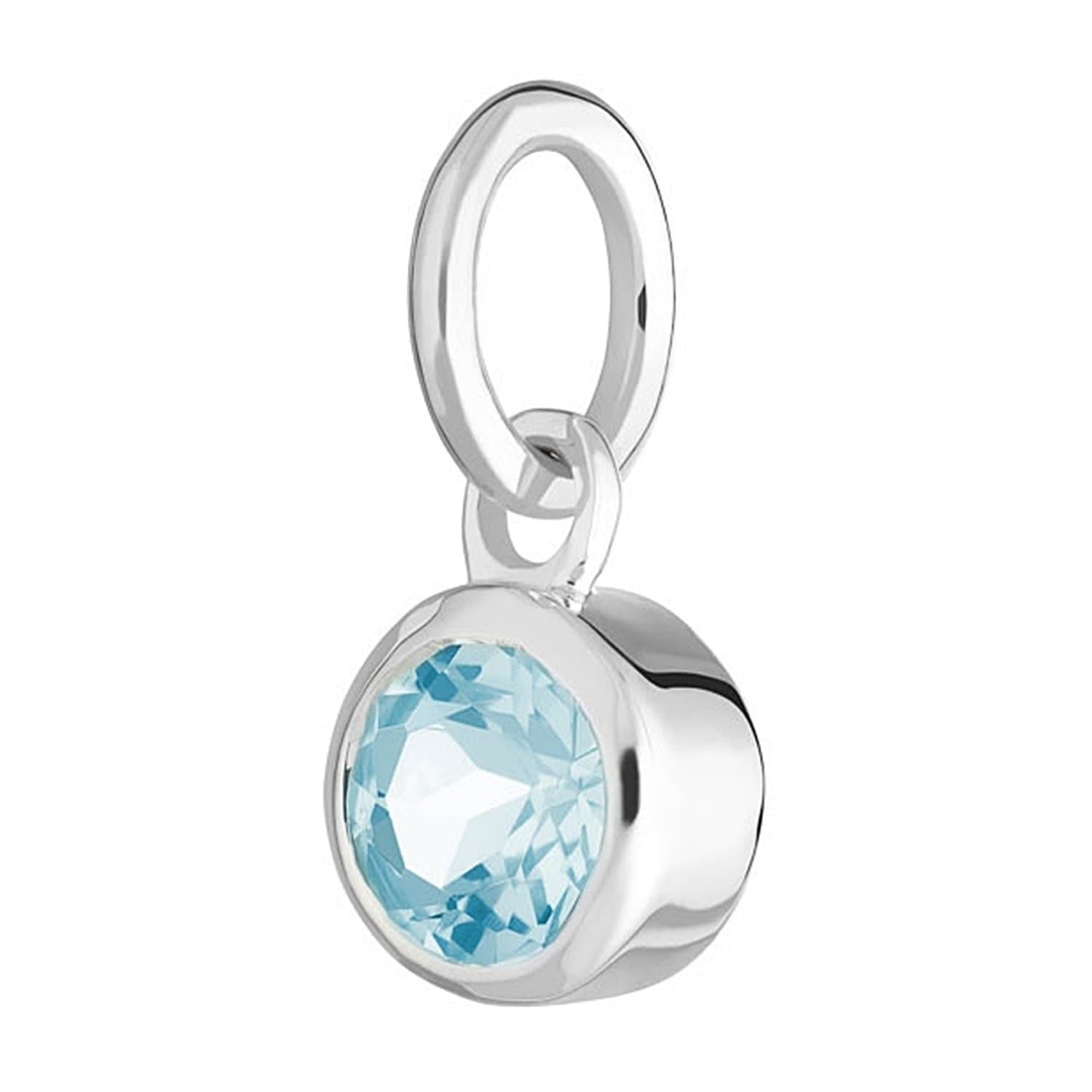 Aquamarine Charm - March Birthstone - Lily Charmed