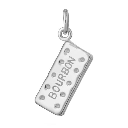 Silver Bourbon Biscuit Charm
