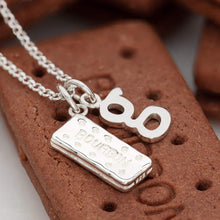 Personalised Silver Bourbon Biscuit Necklace - Lily Charmed