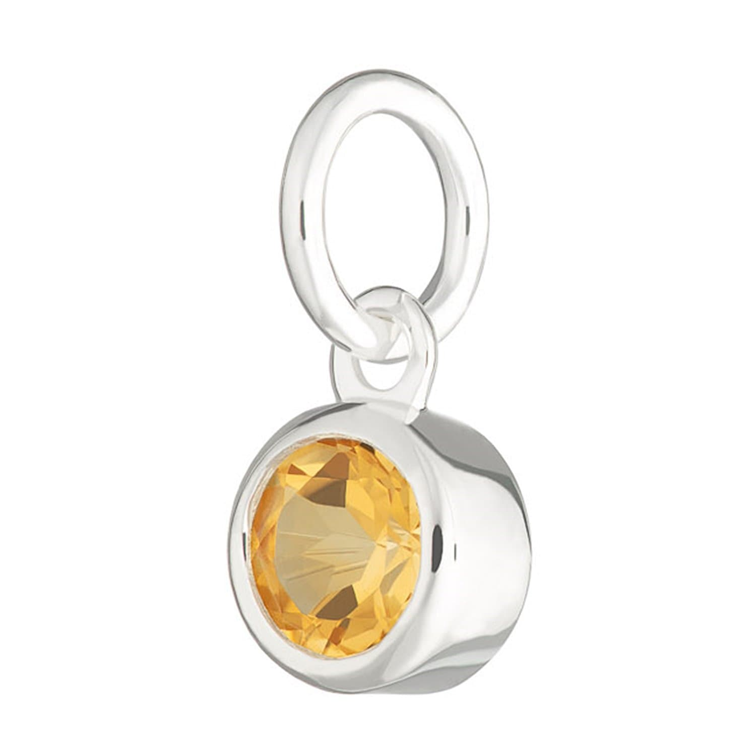 Citrine Charm - November Birthstone - Lily Charmed
