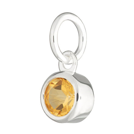 Citrine Charm - November Birthstone