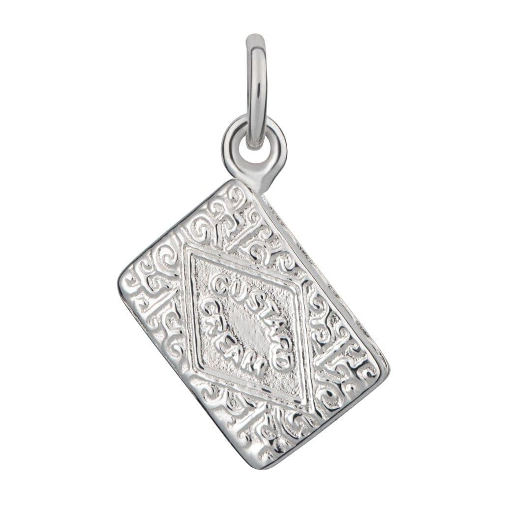 Silver Custard Cream Charm - Lily Charmed