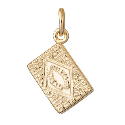 Gold Plated Custard Cream Charm - Lily Charmed