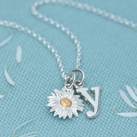 Personalised Silver Daisy Necklace