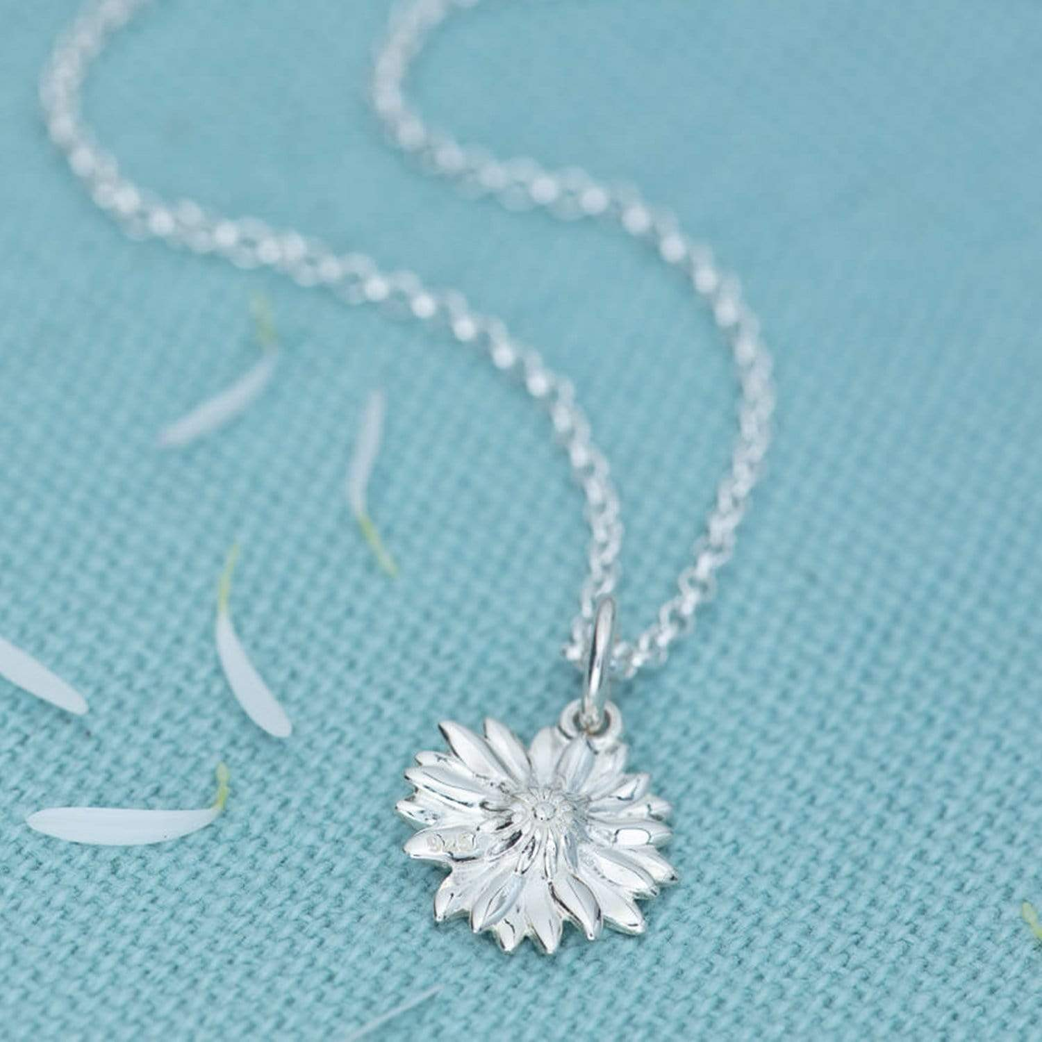 Personalised Silver Daisy Necklace - Lily Charmed