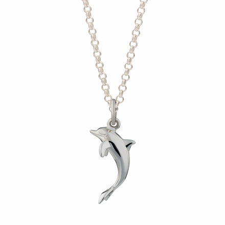 Personalised Silver Dolphin Necklace - Lily Charmed