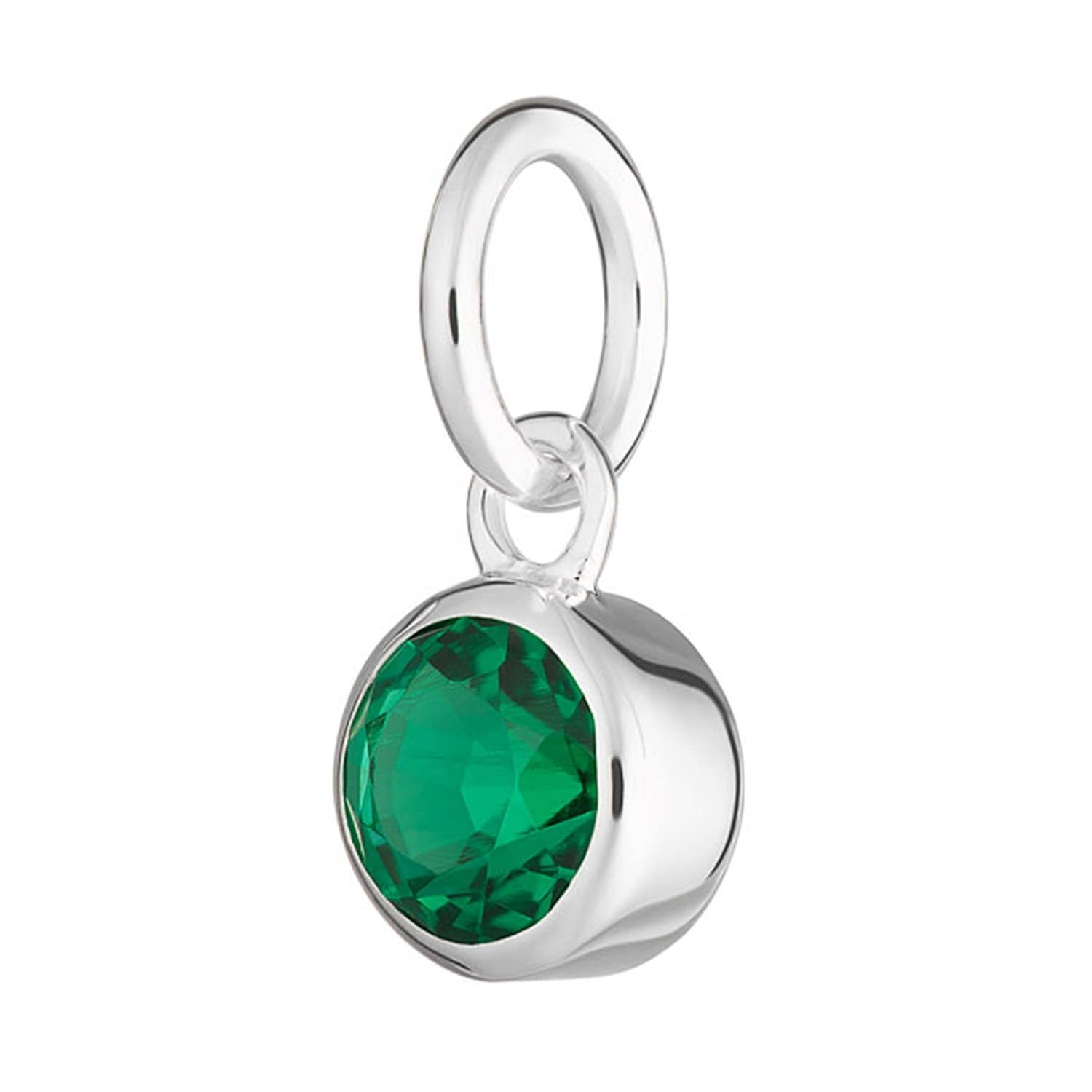 Emerald Charm - May Birthstone - Lily Charmed