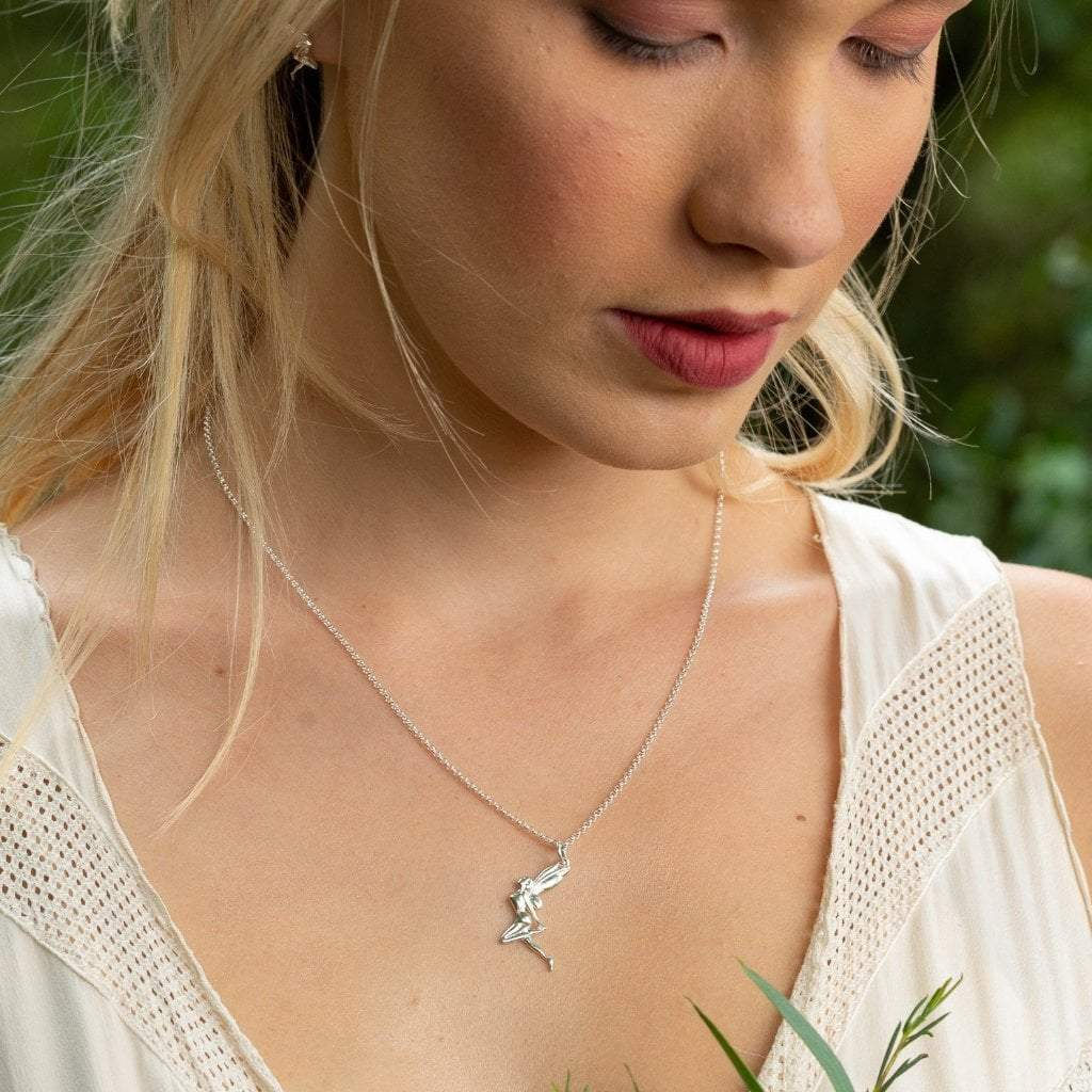 Personalised Silver Fairy Necklace - Lily Charmed