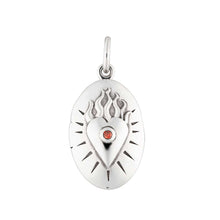 Silver Flaming Heart Locket by Lily Charmed