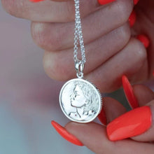 Personalised Silver Heads and Tails Necklace - Lily Charmed