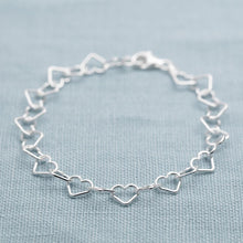 Silver Mother and Daughter Heart Bracelet Set - Lily Charmed