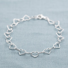 Personalised Silver Heart Bracelet