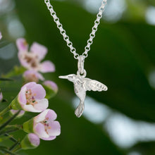 Silver Hummingbird Necklace with 'Fly High' Message