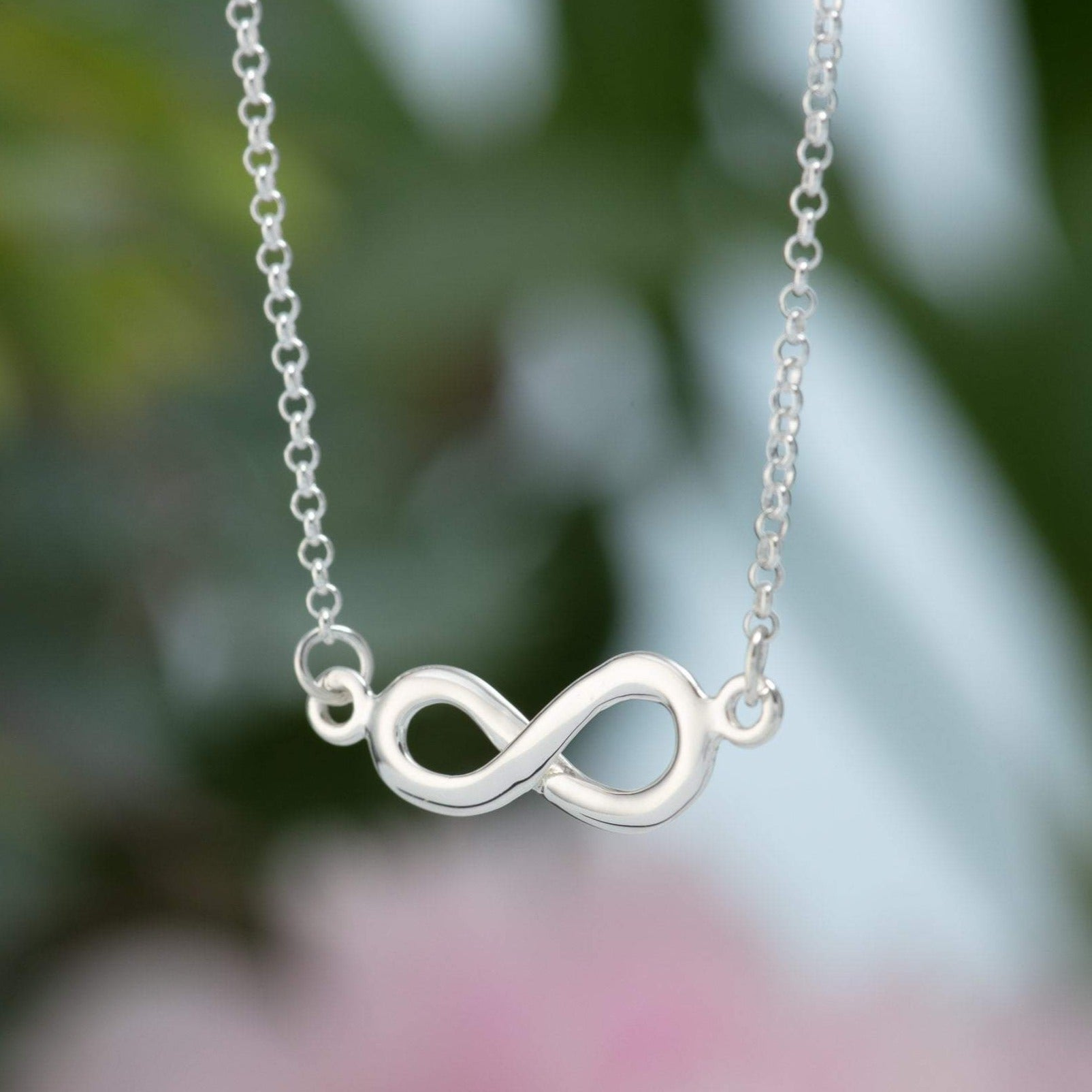 Personalised Silver Infinity Necklace - Lily Charmed