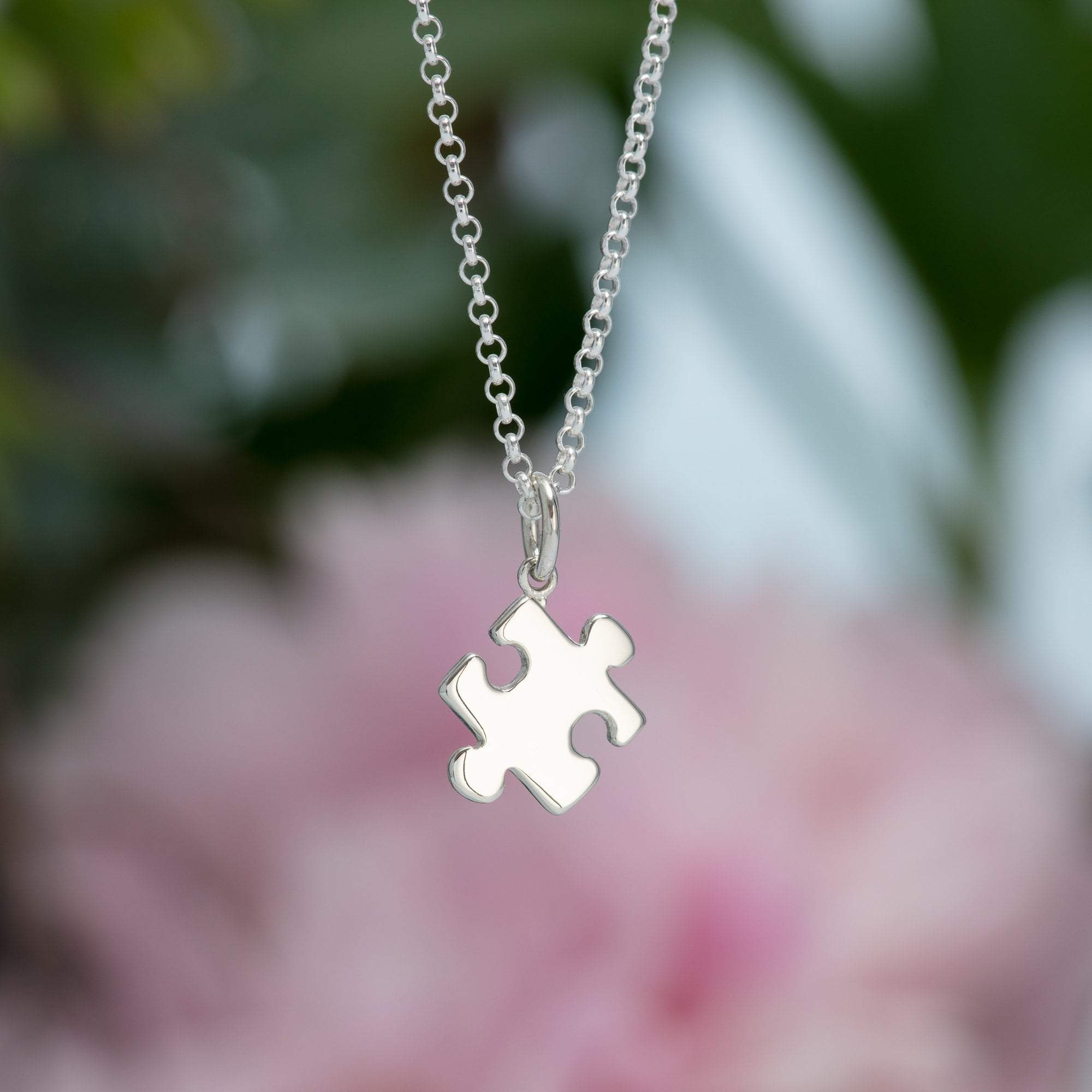 Silver Jigsaw Necklace with 'Friendship' Message - Lily Charmed