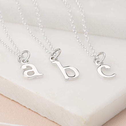 Personalised Silver Initial Charm Necklace - Lily Charmed