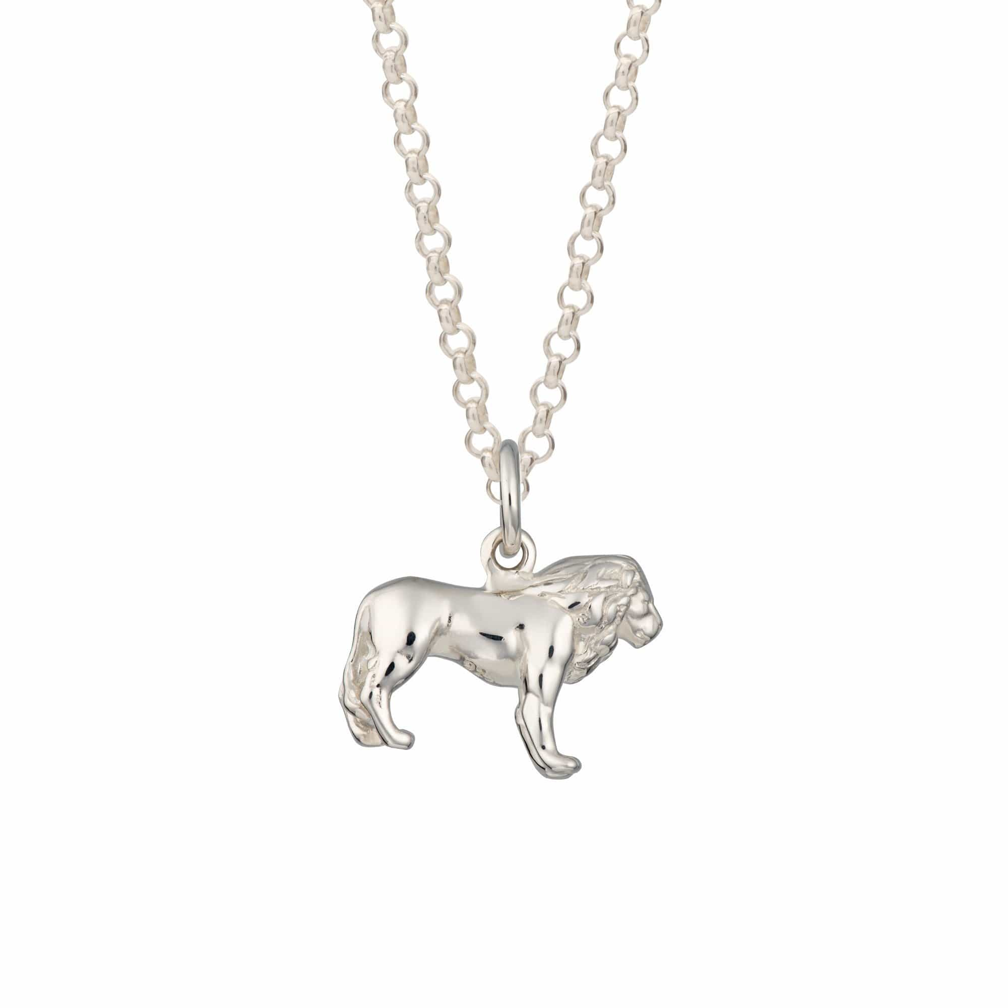 Personalised Silver Lion Necklace - Lily Charmed