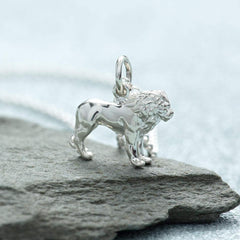 Personalised Silver Lion Necklace