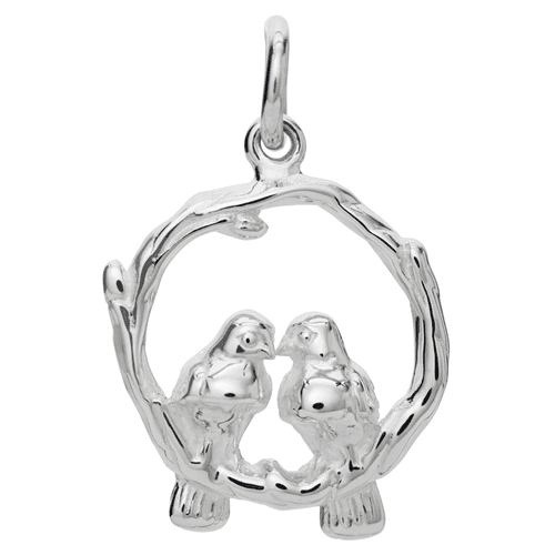 Silver Love Birds Charm - Lily Charmed