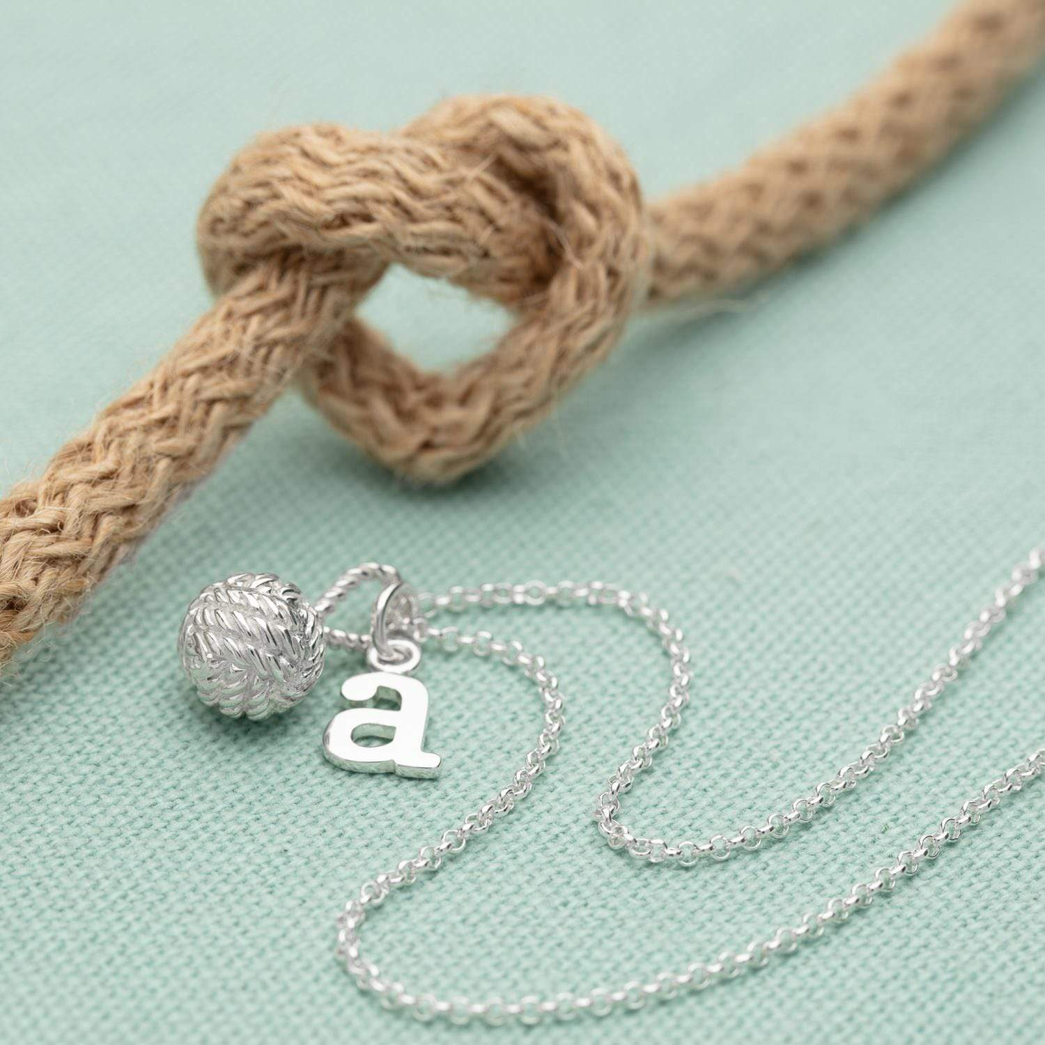 Personalised Silver Love Knot Necklace - Lily Charmed
