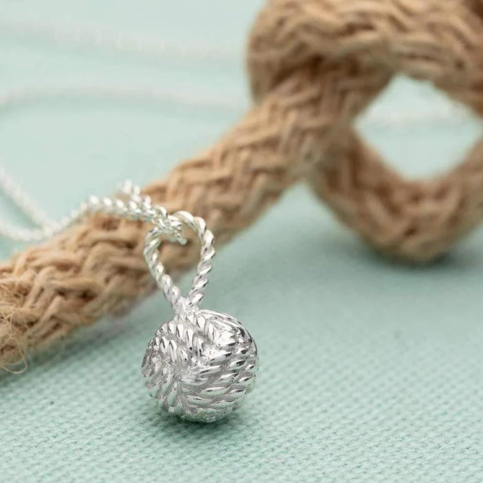 Personalised Silver Love Knot Necklace