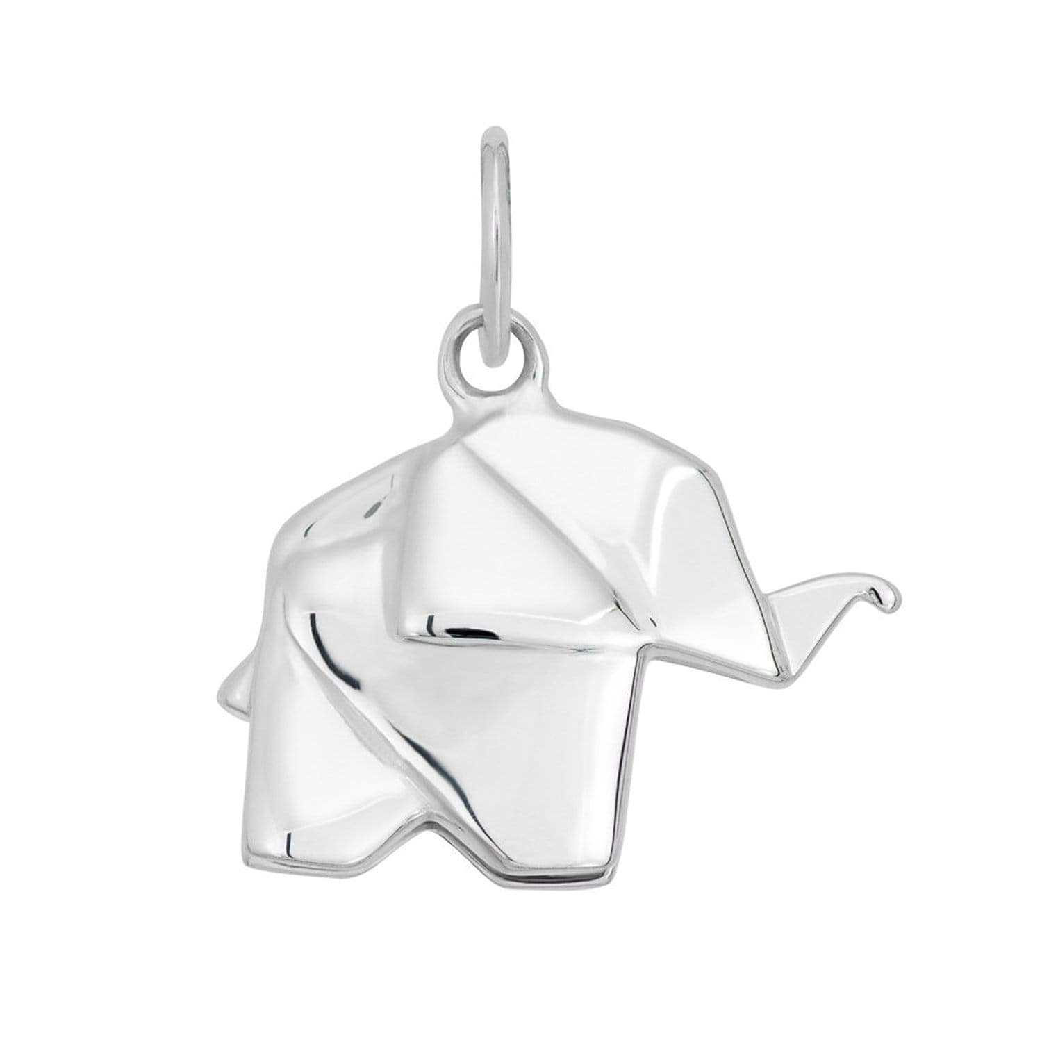 Silver Origami Elephant Charm - Lily Charmed