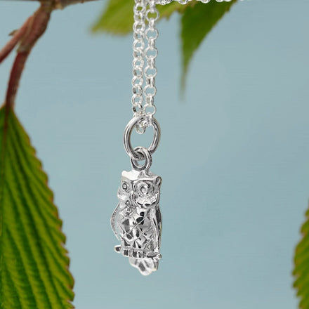 Personalised Silver Owl Necklace