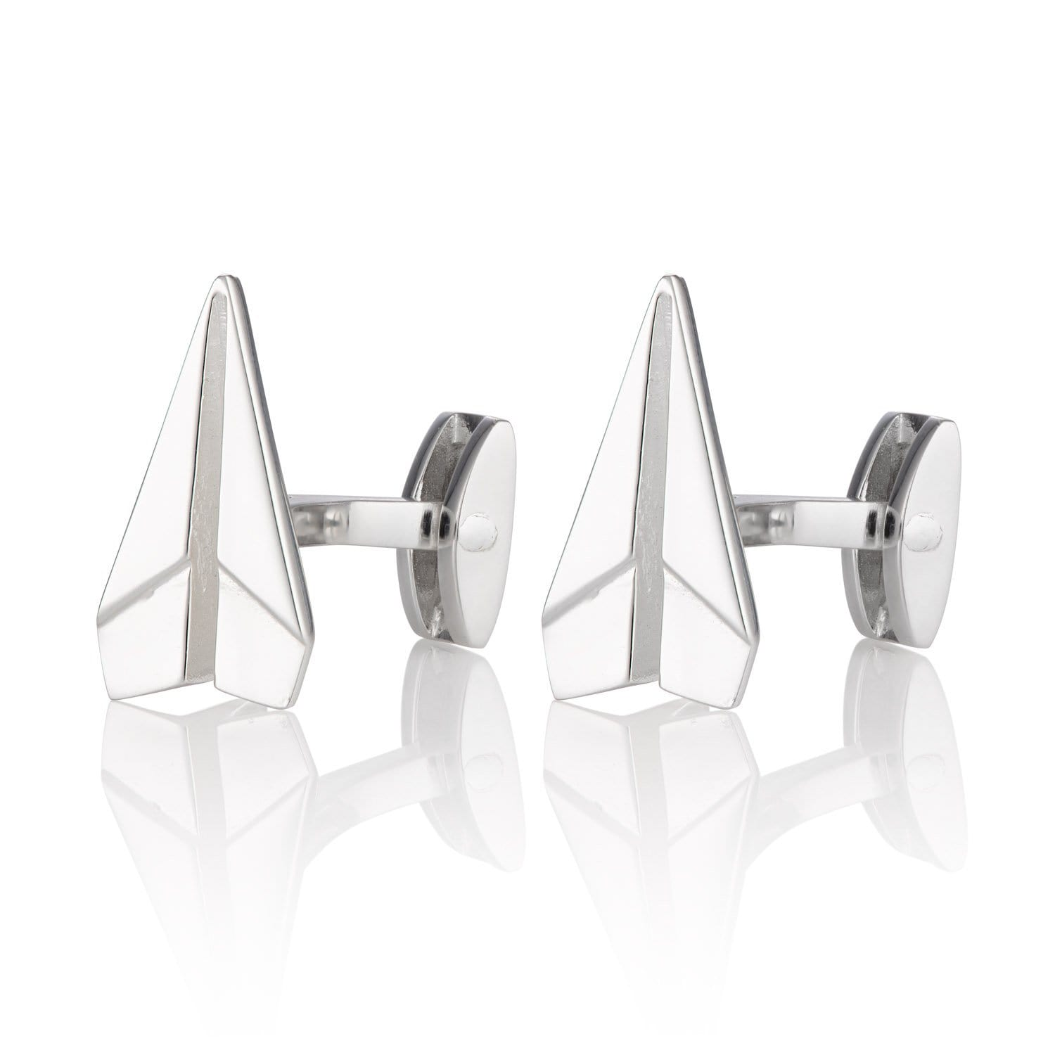 Silver Paper Plane Cufflinks - Lily Charmed