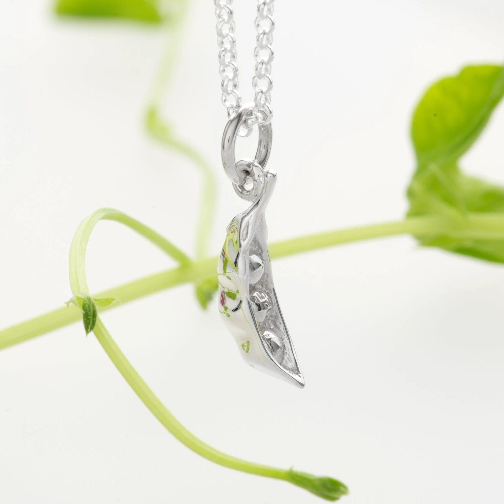 Personalised Silver Peapod Necklace