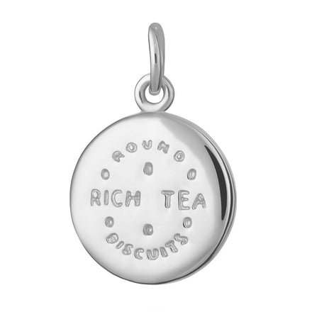 Silver Rich Tea Biscuit Charm by Lily Charmed