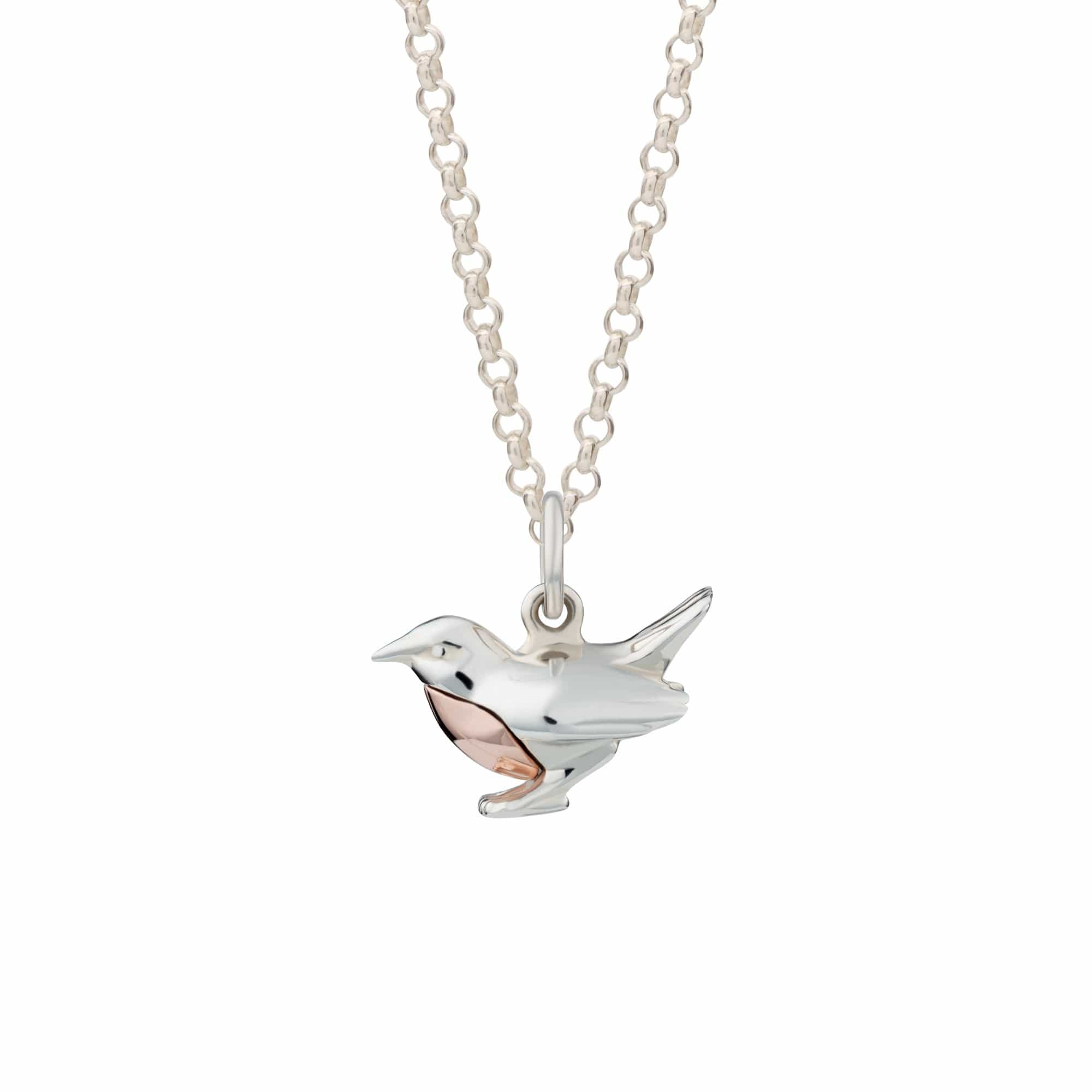 Personalised Silver Robin Necklace - Lily Charmed