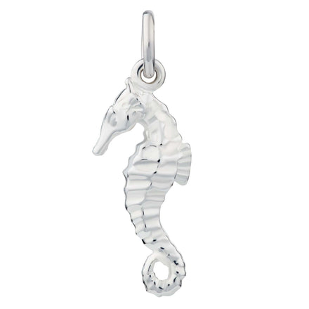 Silver Seahorse Charm - Lily Charmed