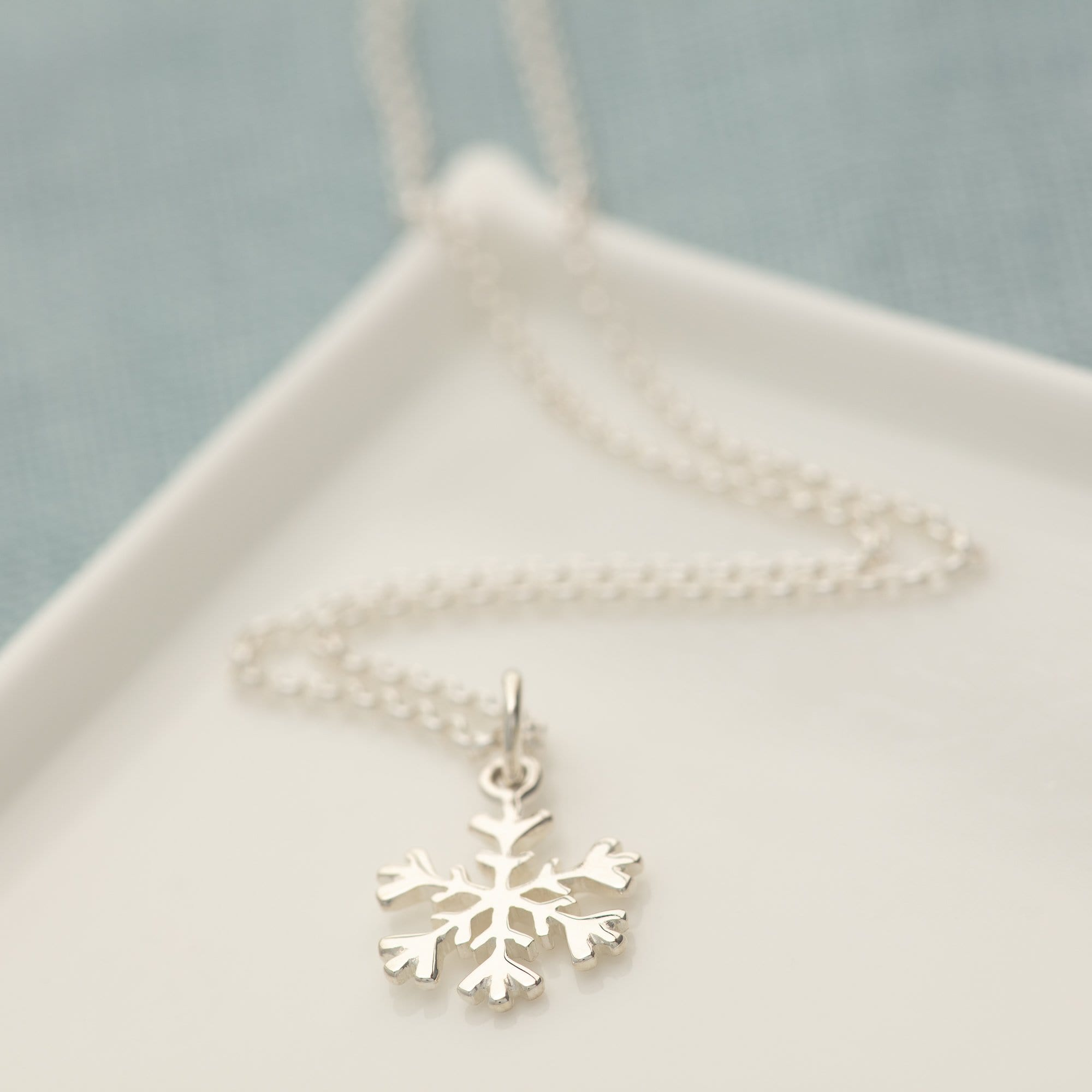 Children's Personalised Silver Snowflake Necklace - Lily Charmed