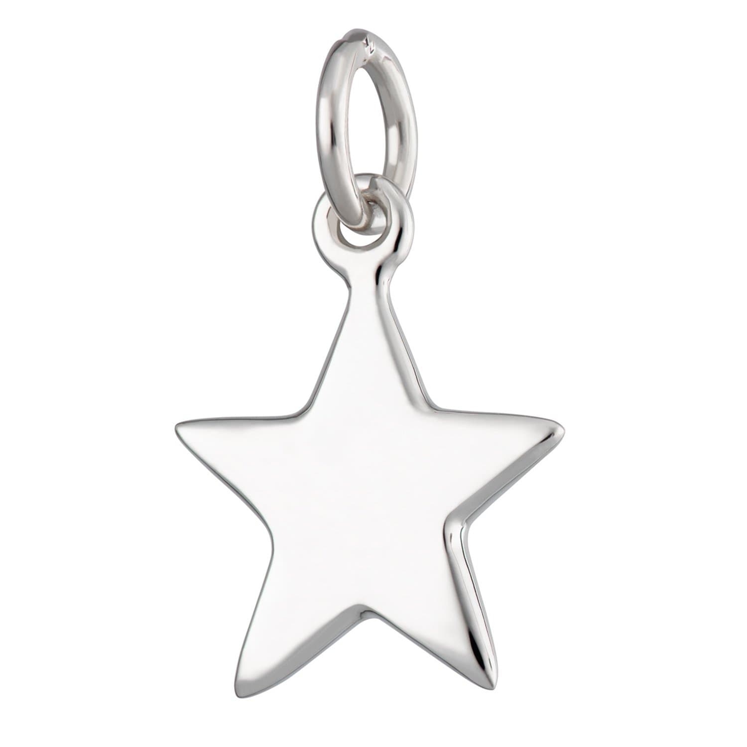 Silver Solid Star Charm - Lily Charmed