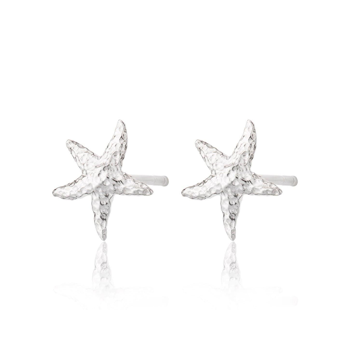 Silver Starfish Stud Earrings - Lily Charmed