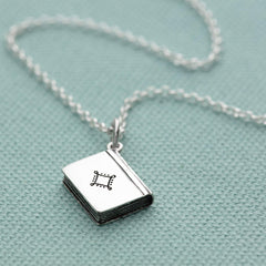 Personalised Silver Story Book Necklace