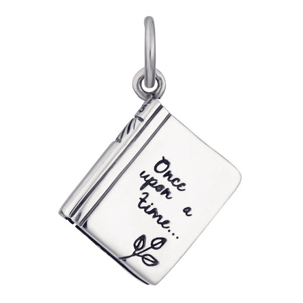 Silver Story Book Charm