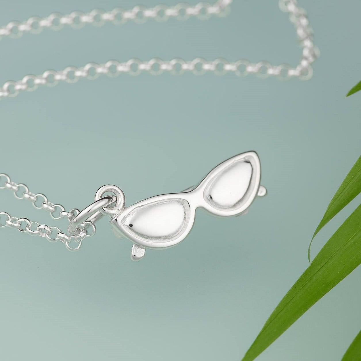 Personalised Silver Sunglasses Necklace - Lily Charmed