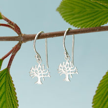 Silver Tree Hook Earrings - Lily Charmed