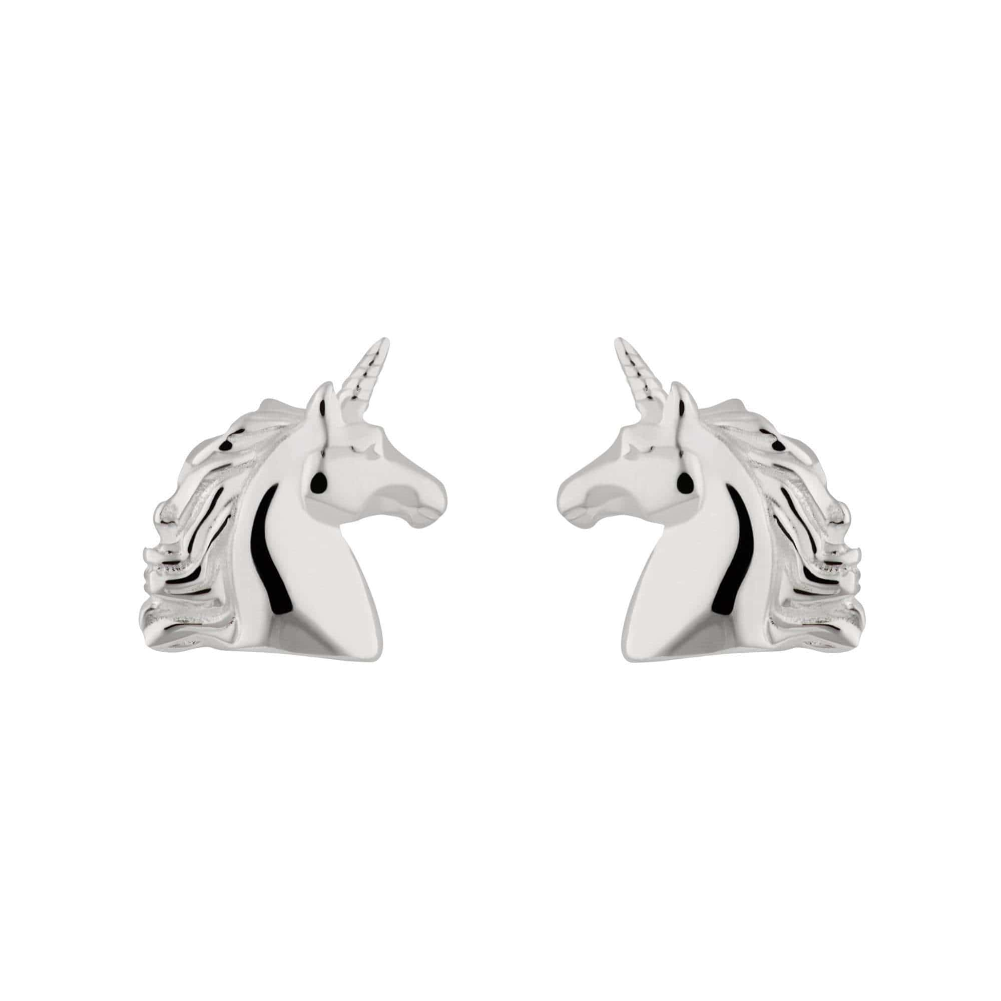 Silver Unicorn Stud Earrings - Lily Charmed
