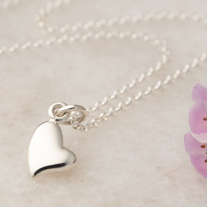 Personalised Silver Warm Heart Necklace