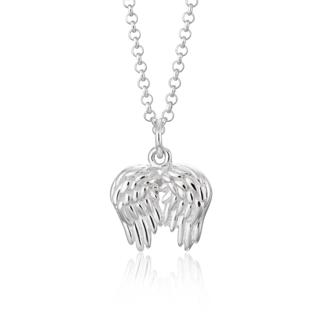 Personalised Silver Angel Wings Necklace