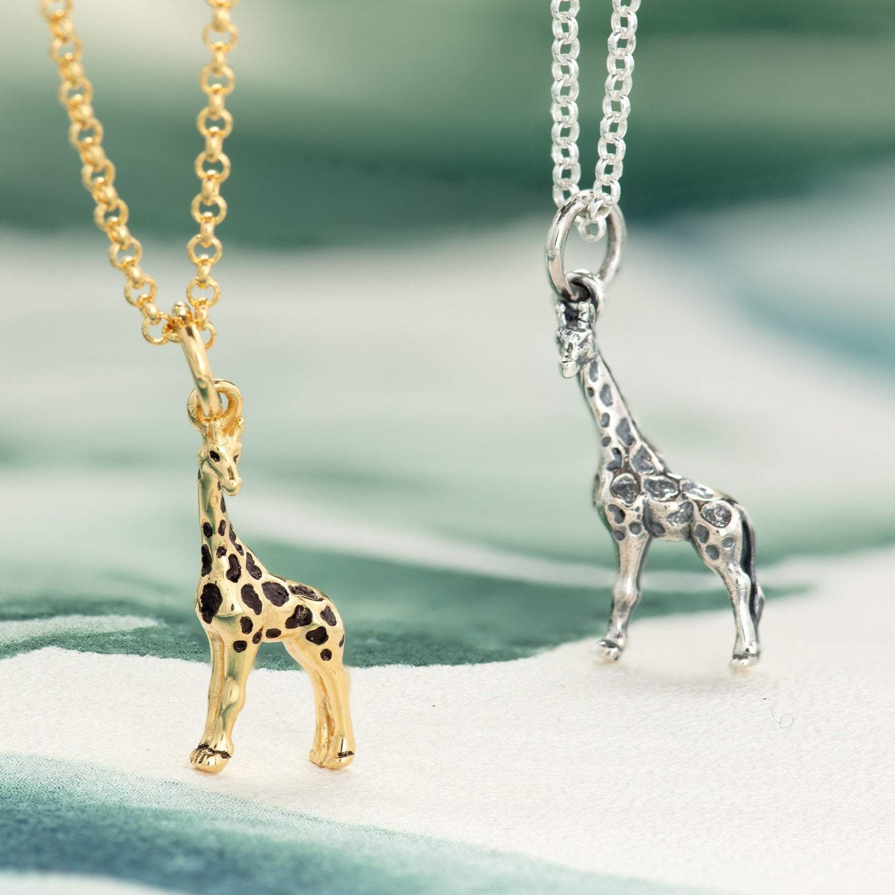 Personalised Gold Plated Giraffe Necklace - Lily Charmed